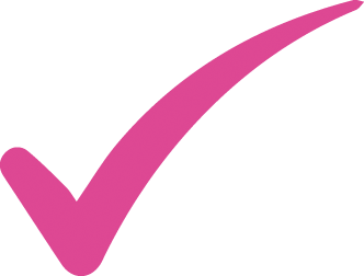 Pink tick icon. Symbolising Music Service GDPR and Safeguarding - music provision