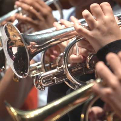 trumpets playing