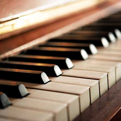 Artistic picture of some piano keys.