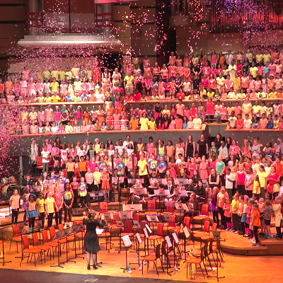 Picture of a music service concert put on by services for education