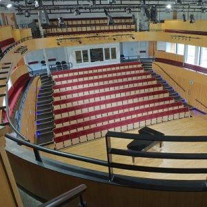 An image of Ruddock Hall, a concert venue in Birmingham,