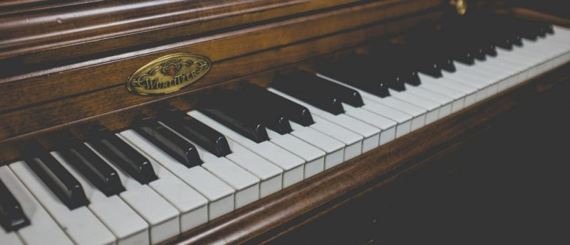An artistic image of a piano