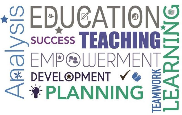 words to do with teaching including education, teaching, success, empowerment. Symbolising the new inspection framework