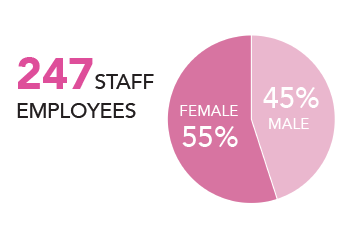 247 staff employed
