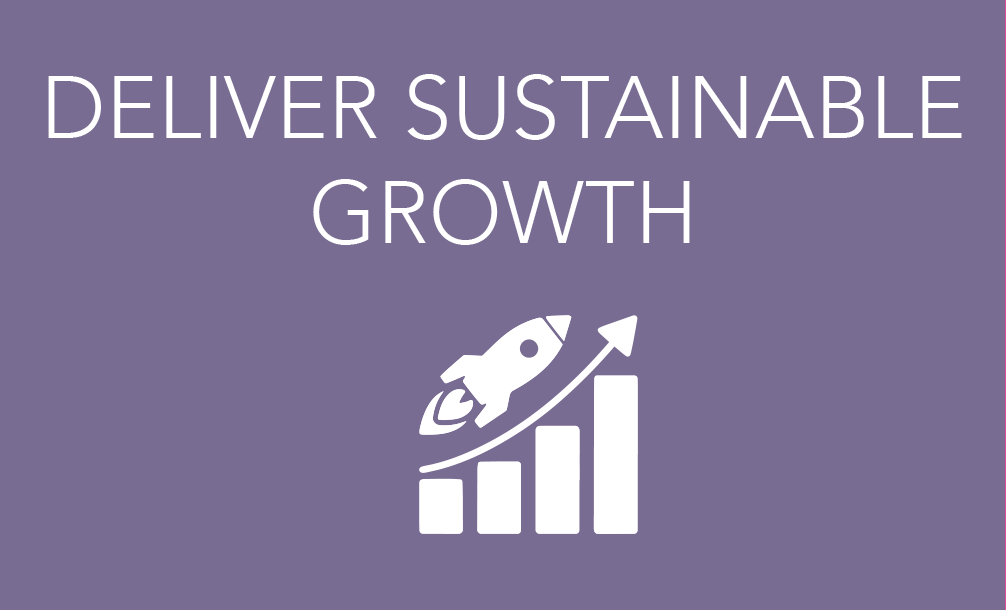 DELIVER SUSTAINABLE GROWTH